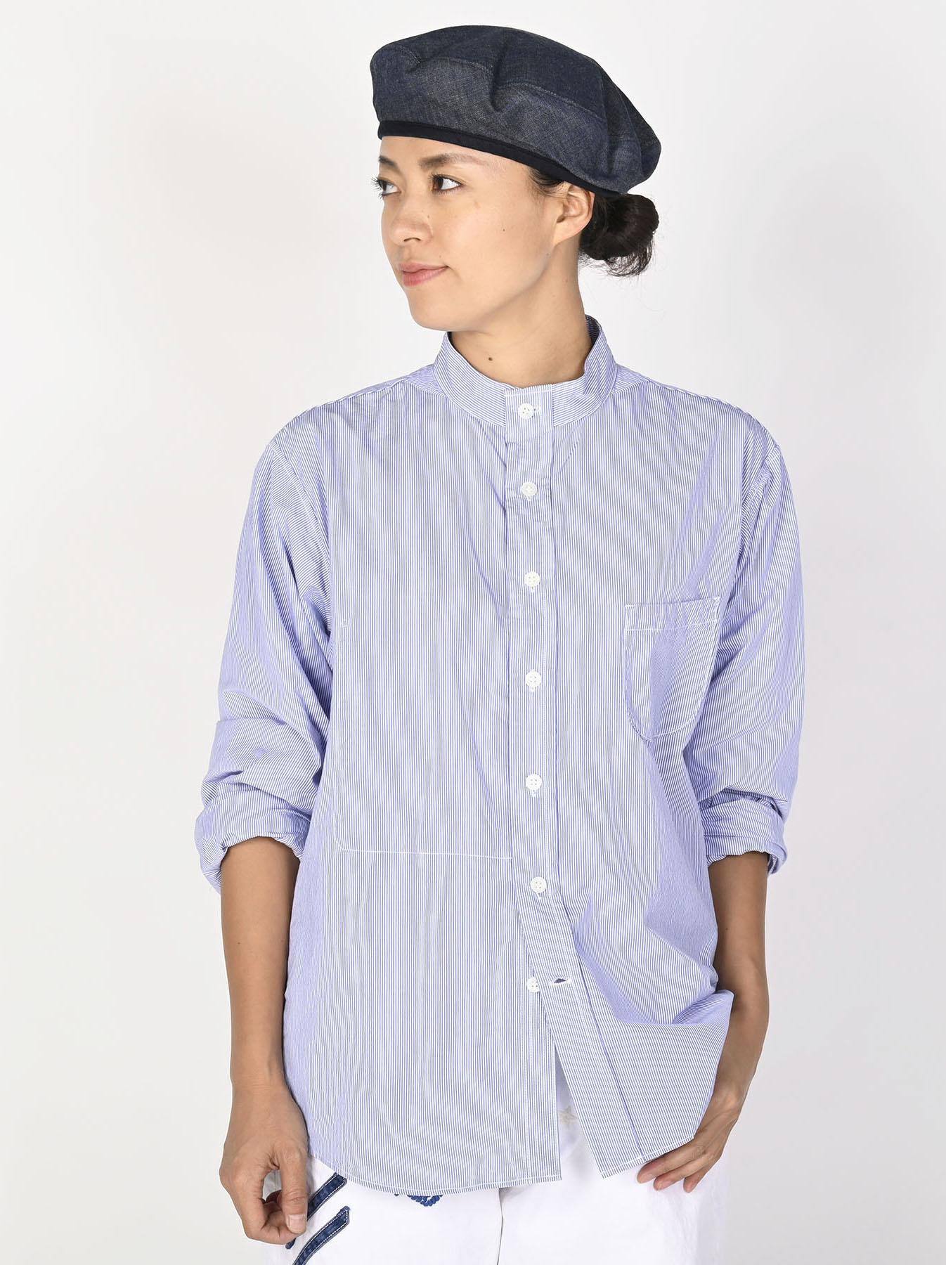 Miko Stand Collar 908 Ocean Shirt-4
