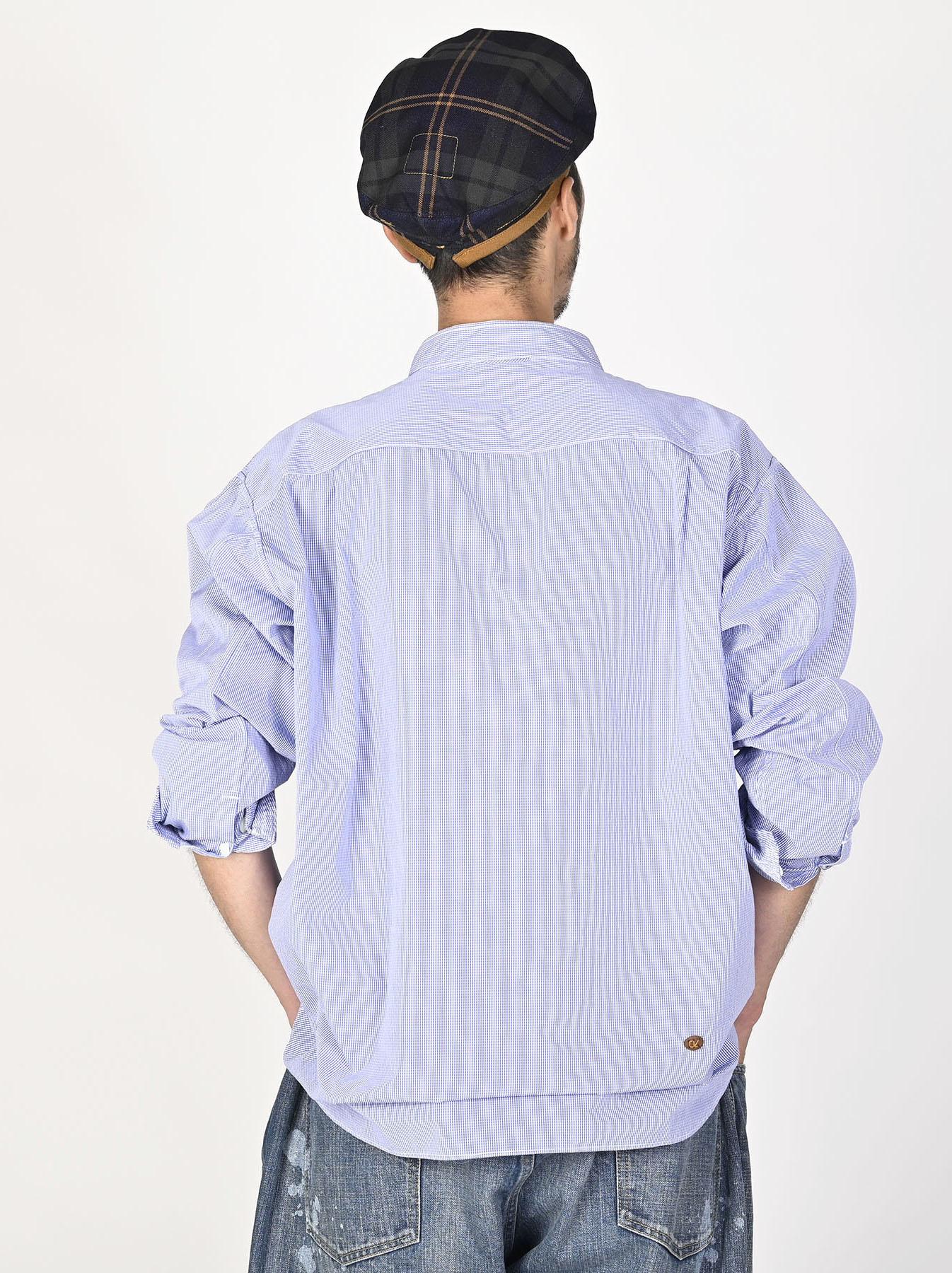 Miko Stand Collar 908 Ocean Shirt-7