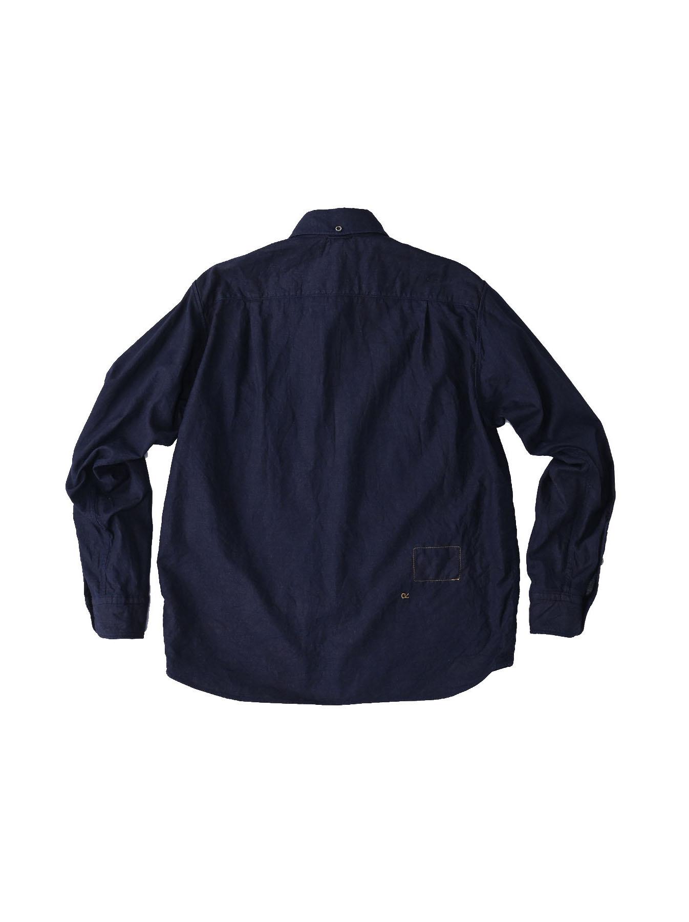 Indigo Gauze 908 Ocean Shirt-5