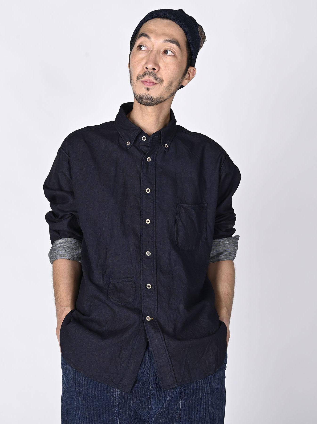 Indigo Gauze 908 Ocean Shirt-2
