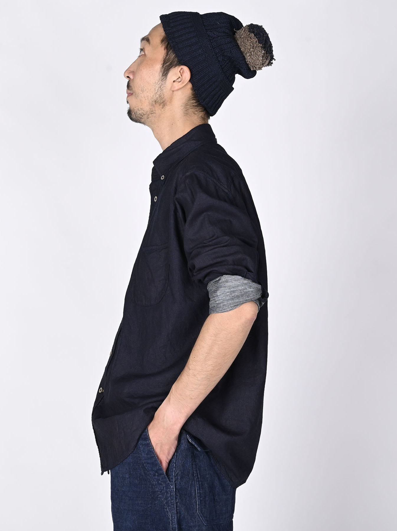 Indigo Gauze 908 Ocean Shirt-3