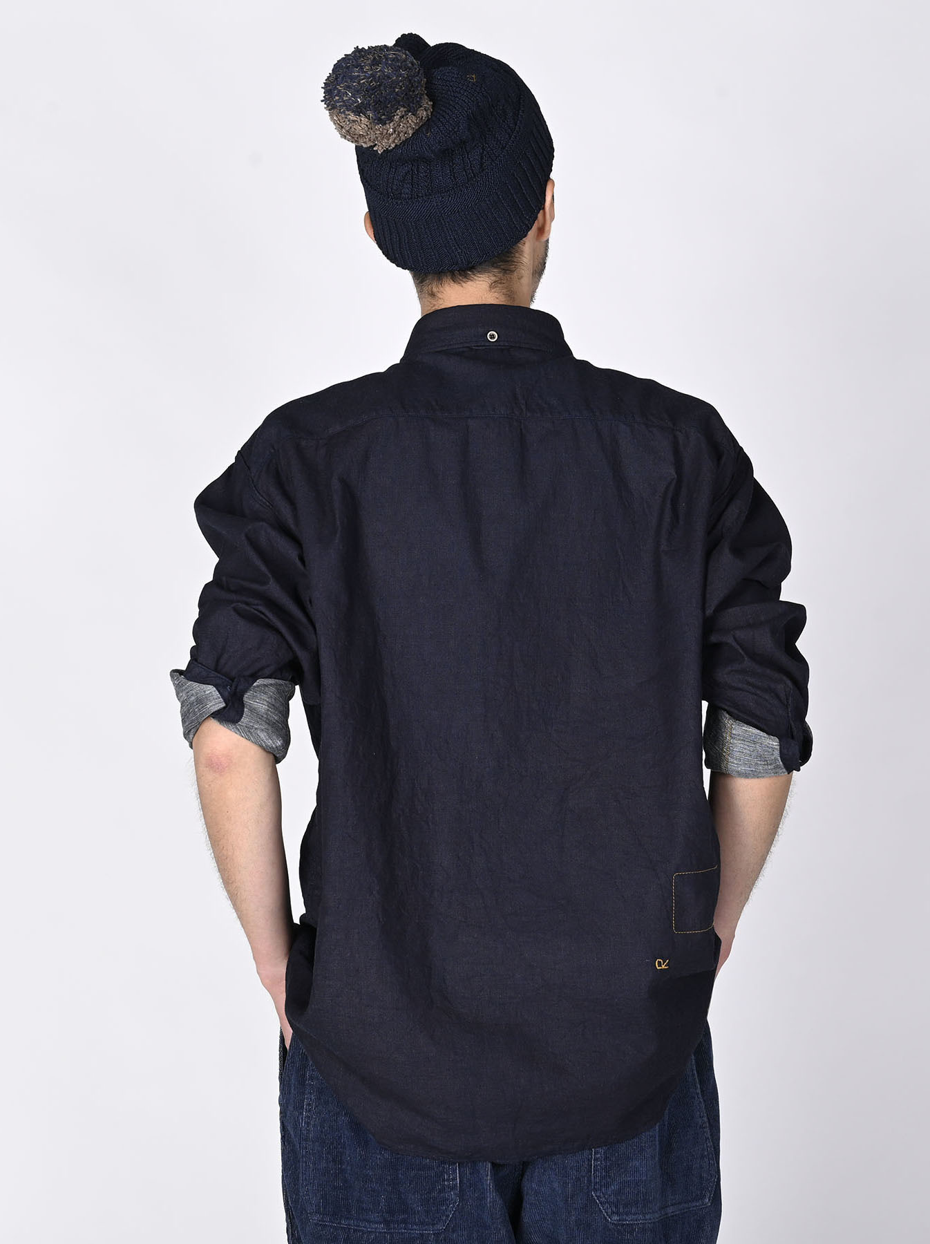 Indigo Gauze 908 Ocean Shirt-4