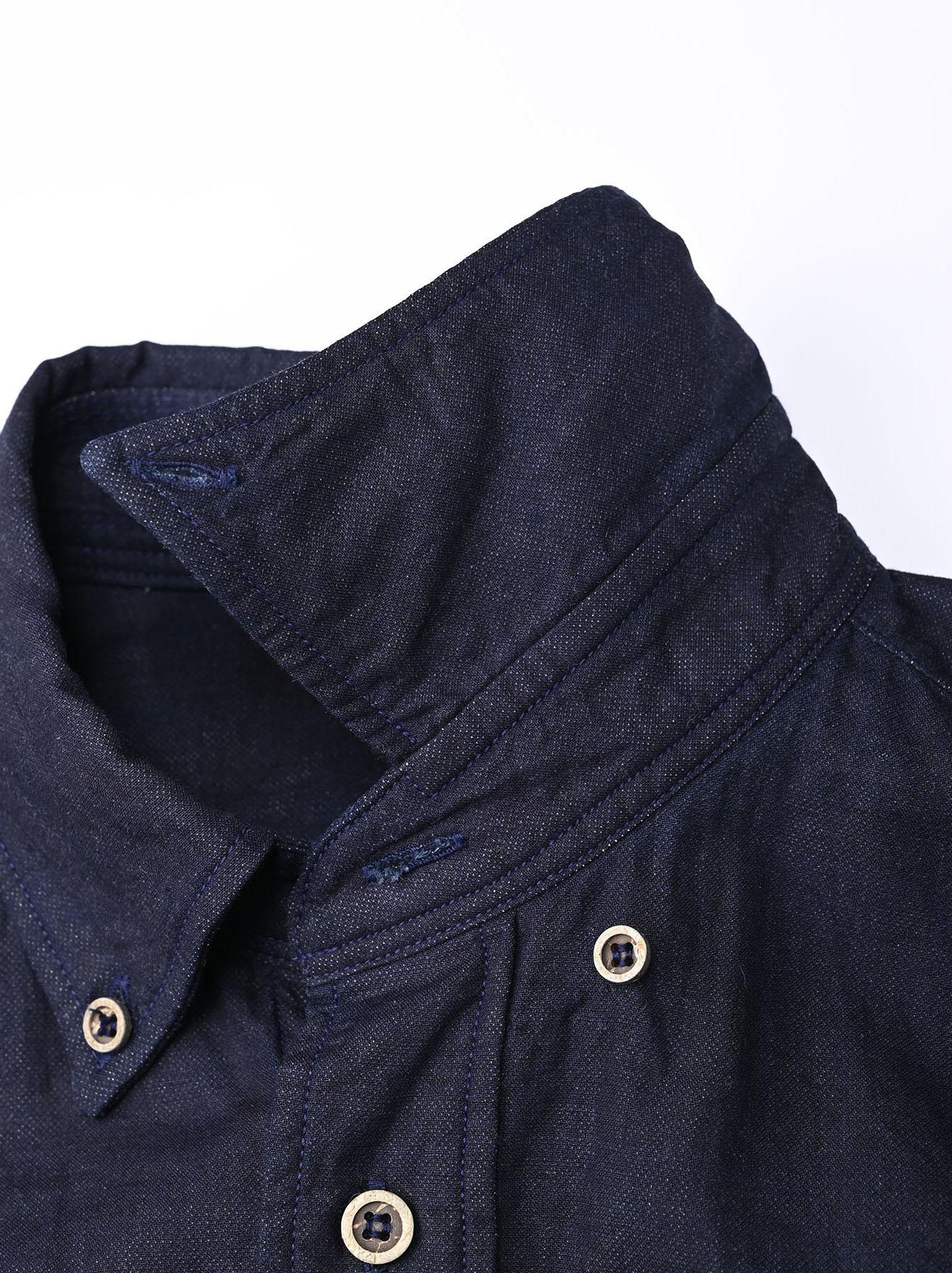 Indigo Gauze 908 Ocean Shirt-7