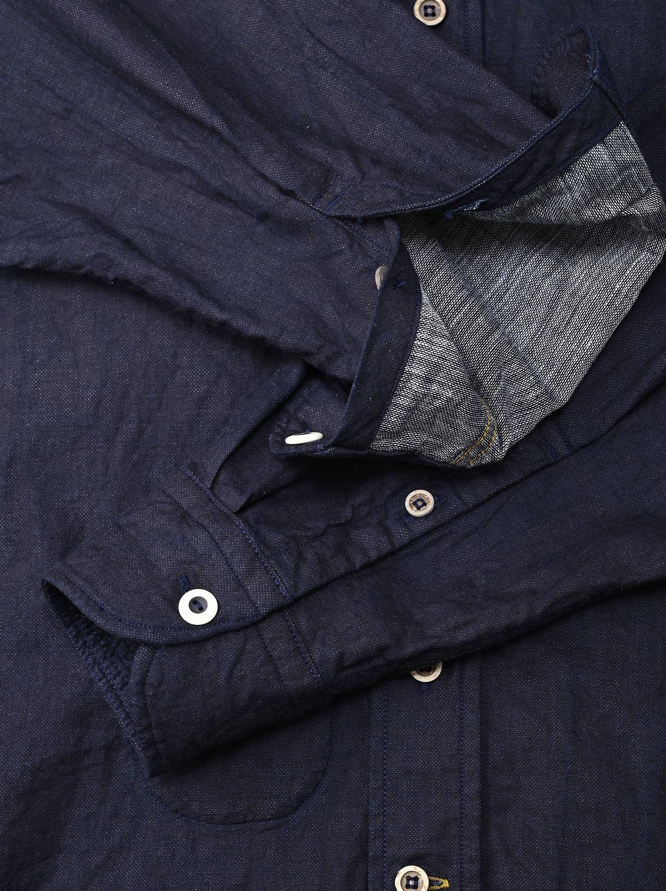Indigo Gauze 908 Ocean Shirt-8