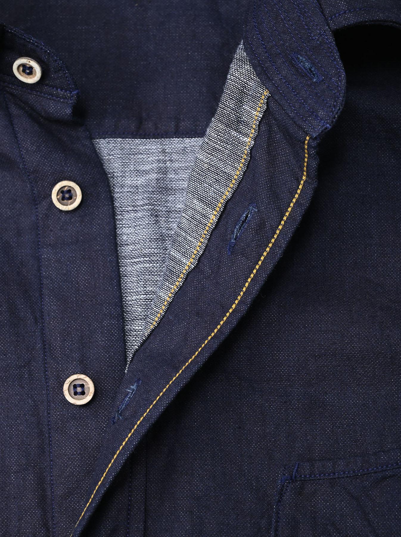 Indigo Gauze 908 Ocean Shirt-9