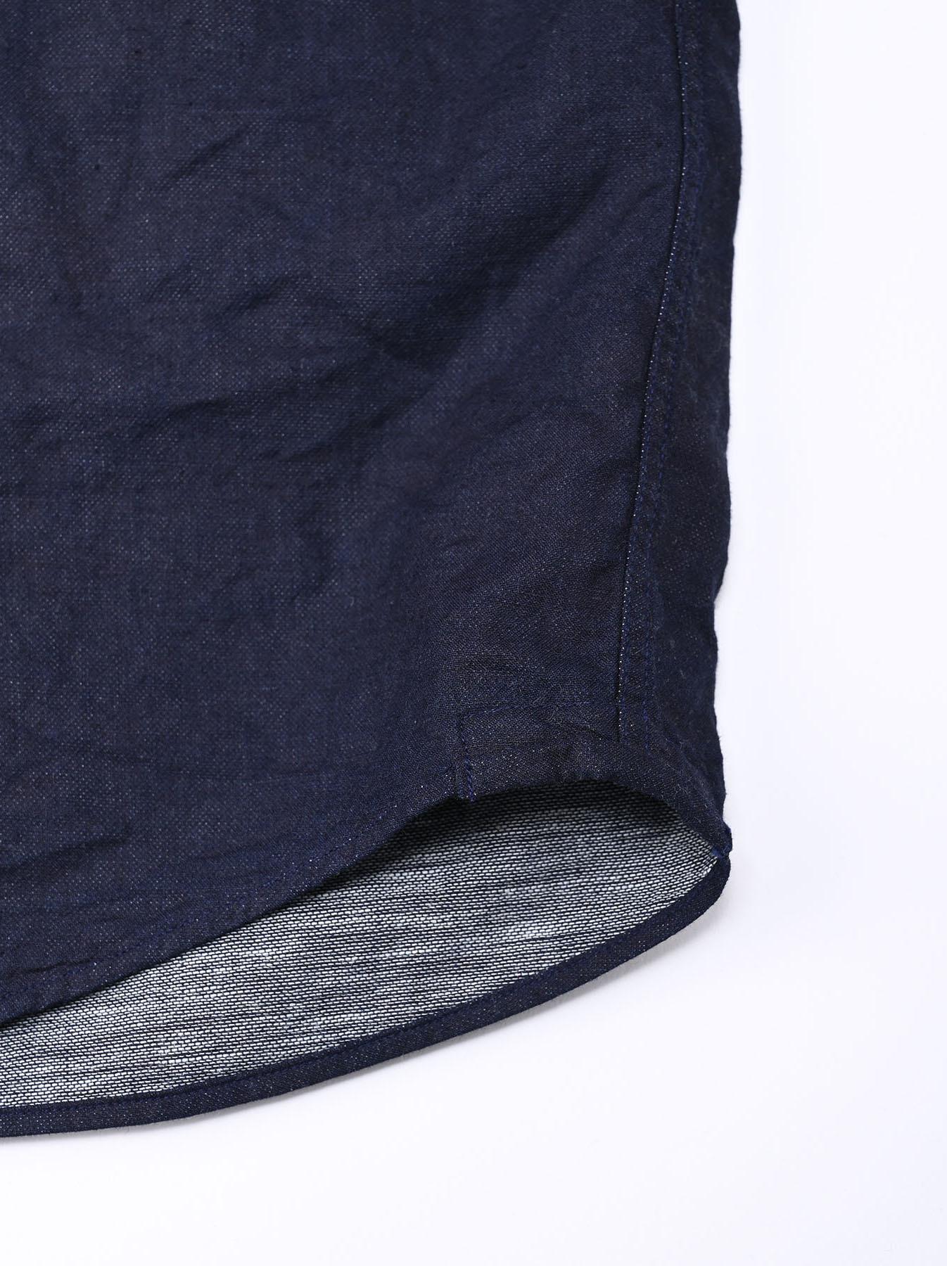 Indigo Gauze 908 Ocean Shirt-10