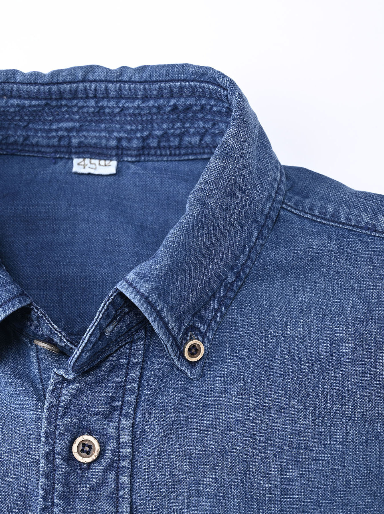 Indigo Gauze 908 Ocean Shirt Distressed-6