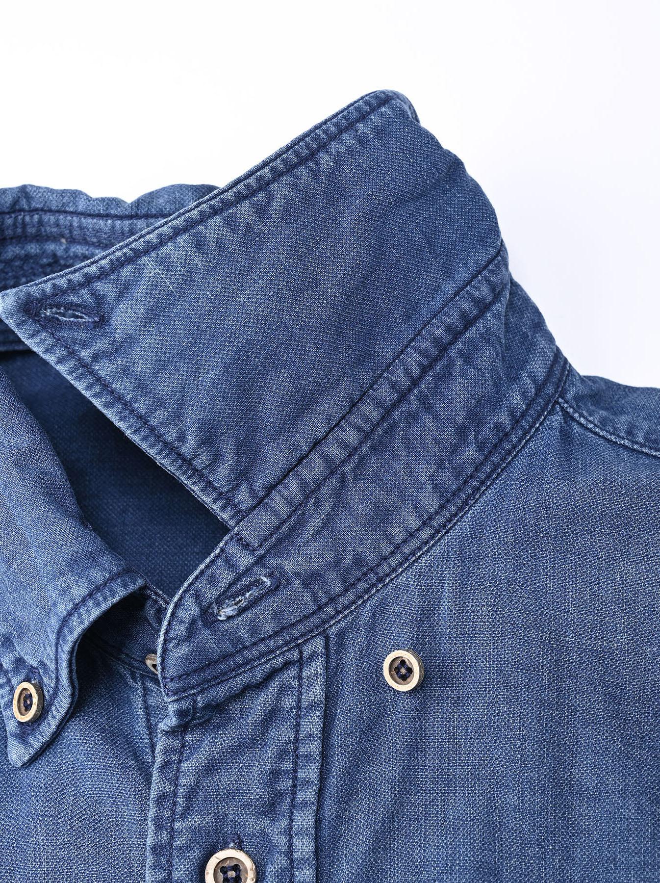 Indigo Gauze 908 Ocean Shirt Distressed-7