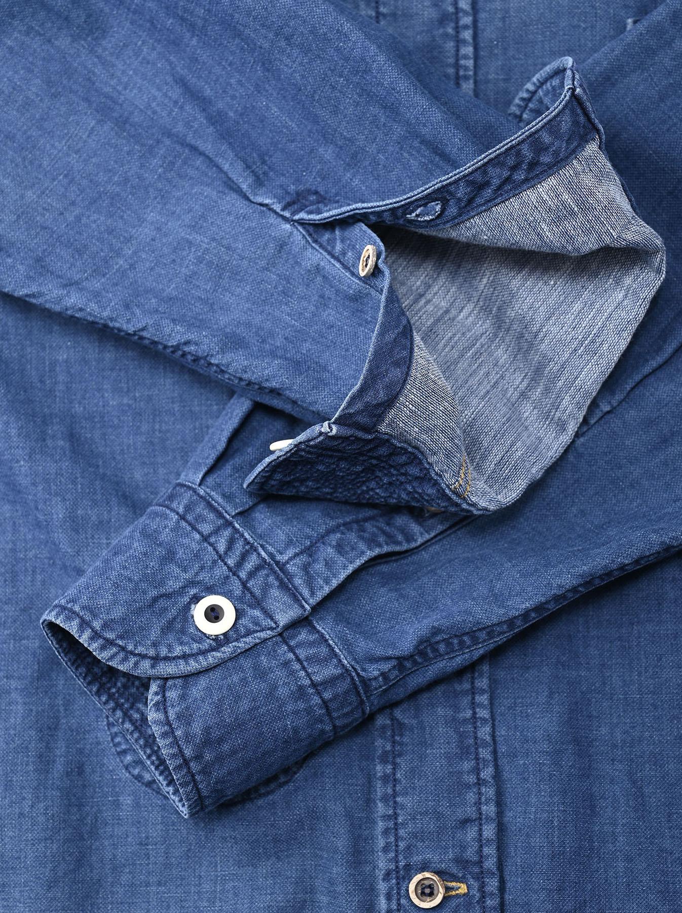 Indigo Gauze 908 Ocean Shirt Distressed-8