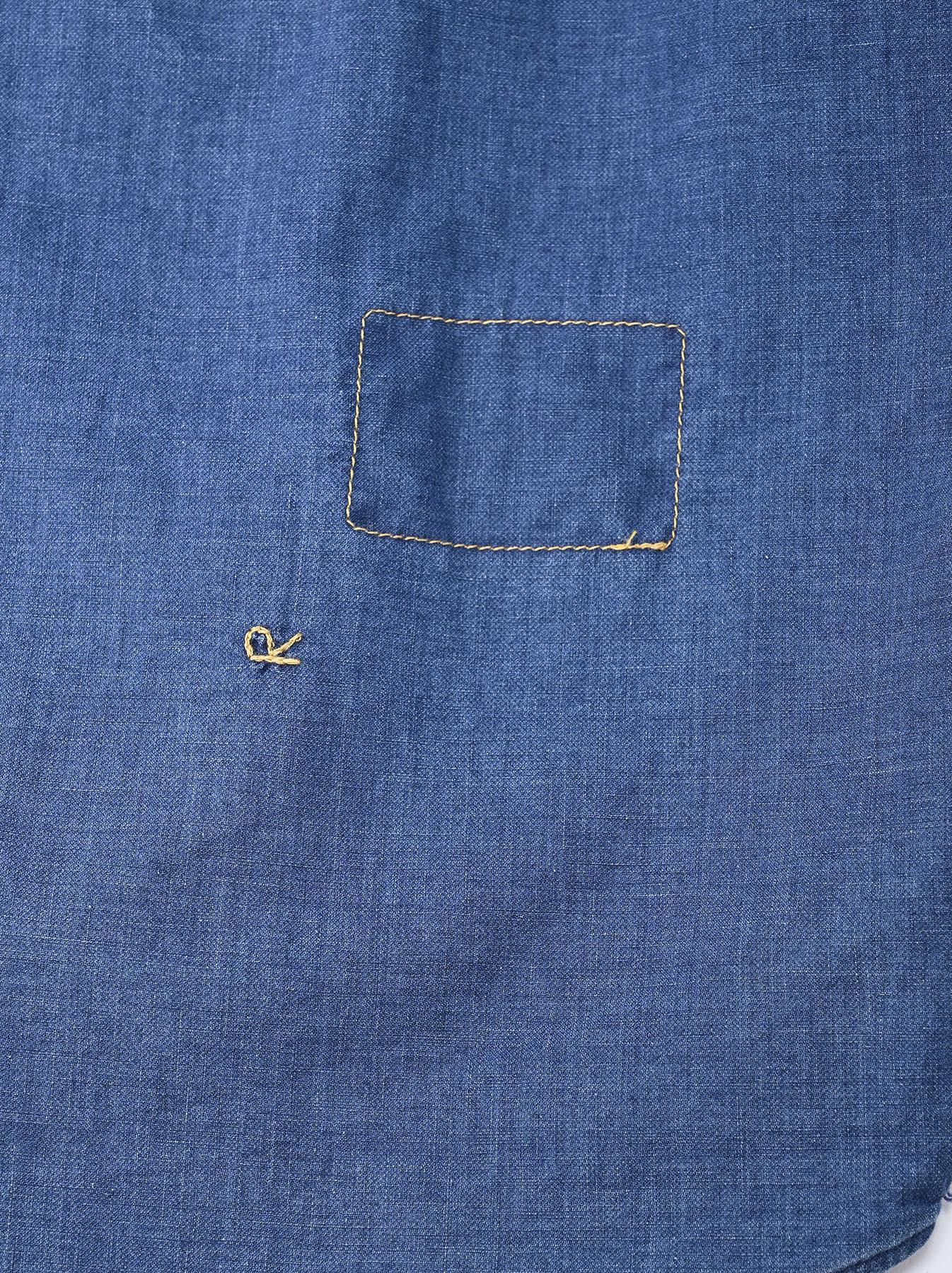 Indigo Gauze 908 Ocean Shirt Distressed-11