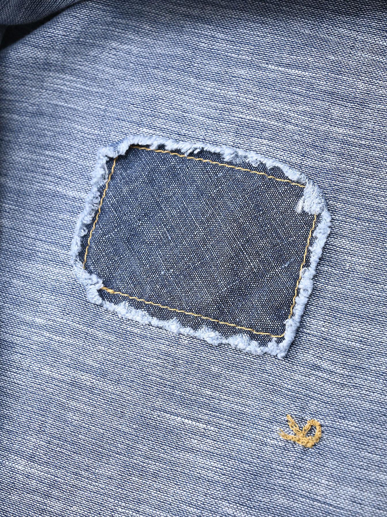 Indigo Gauze 908 Ocean Shirt Distressed-12