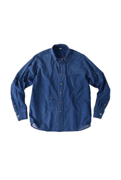 Indigo Gauze 908 Ocean Shirt Distressed