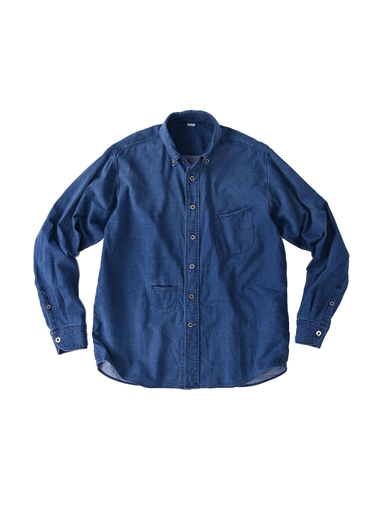Indigo Gauze 908 Ocean Shirt Distressed-1