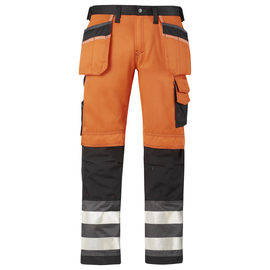 Snickers Workwear Snickers 3233 Hi-Vis Holster Pockets Trousers Class 2
