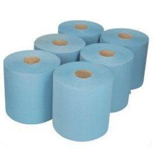 Blue Wiper Roll (Bale of 6)