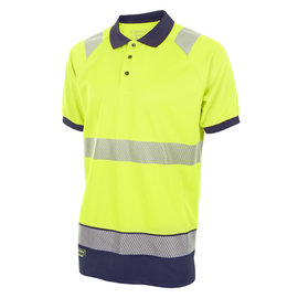 B Seen Hi Vis Two Tone Polo Shirt with Retro Tape