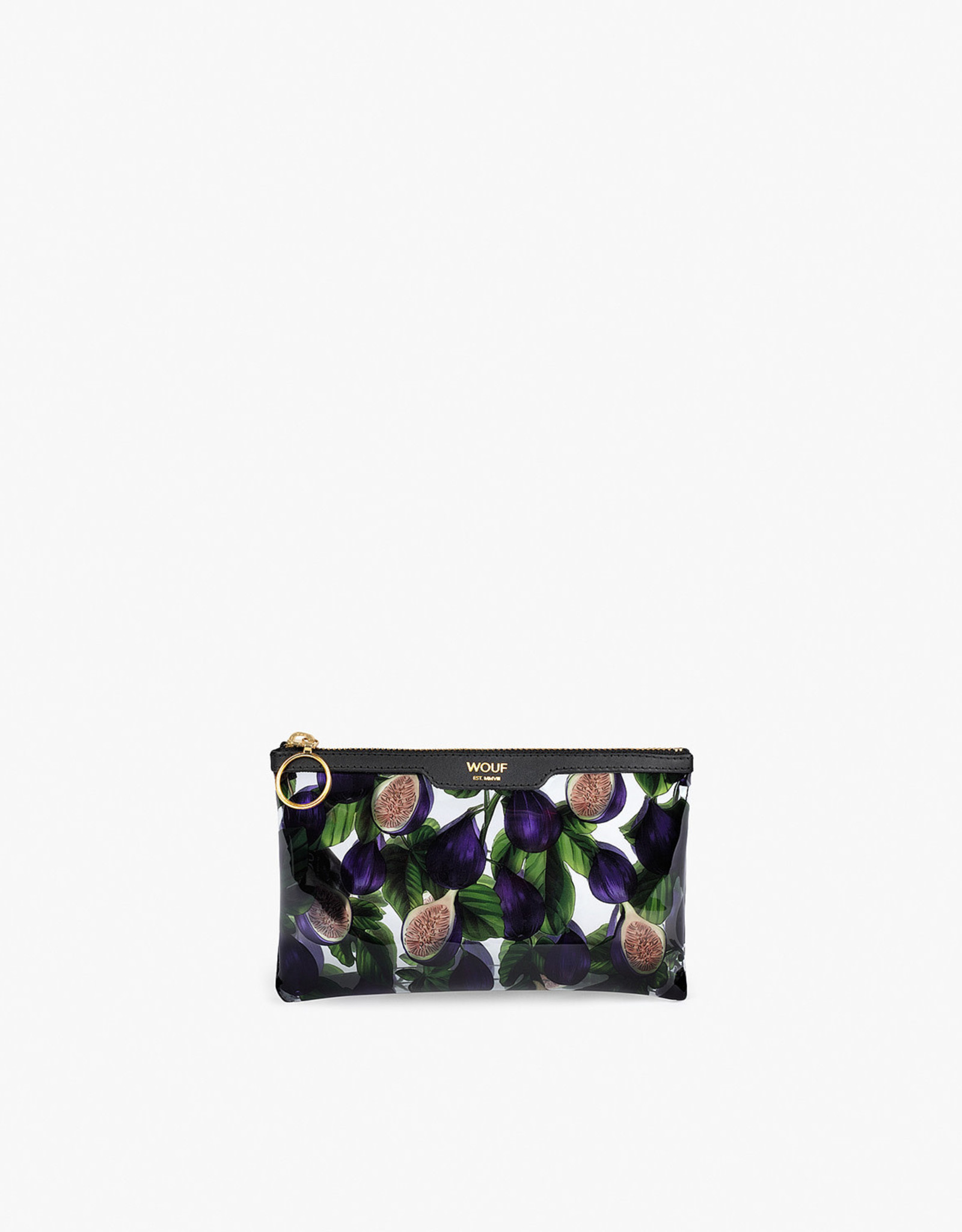 WOUF WOUF Black Figue Pocket Clutch