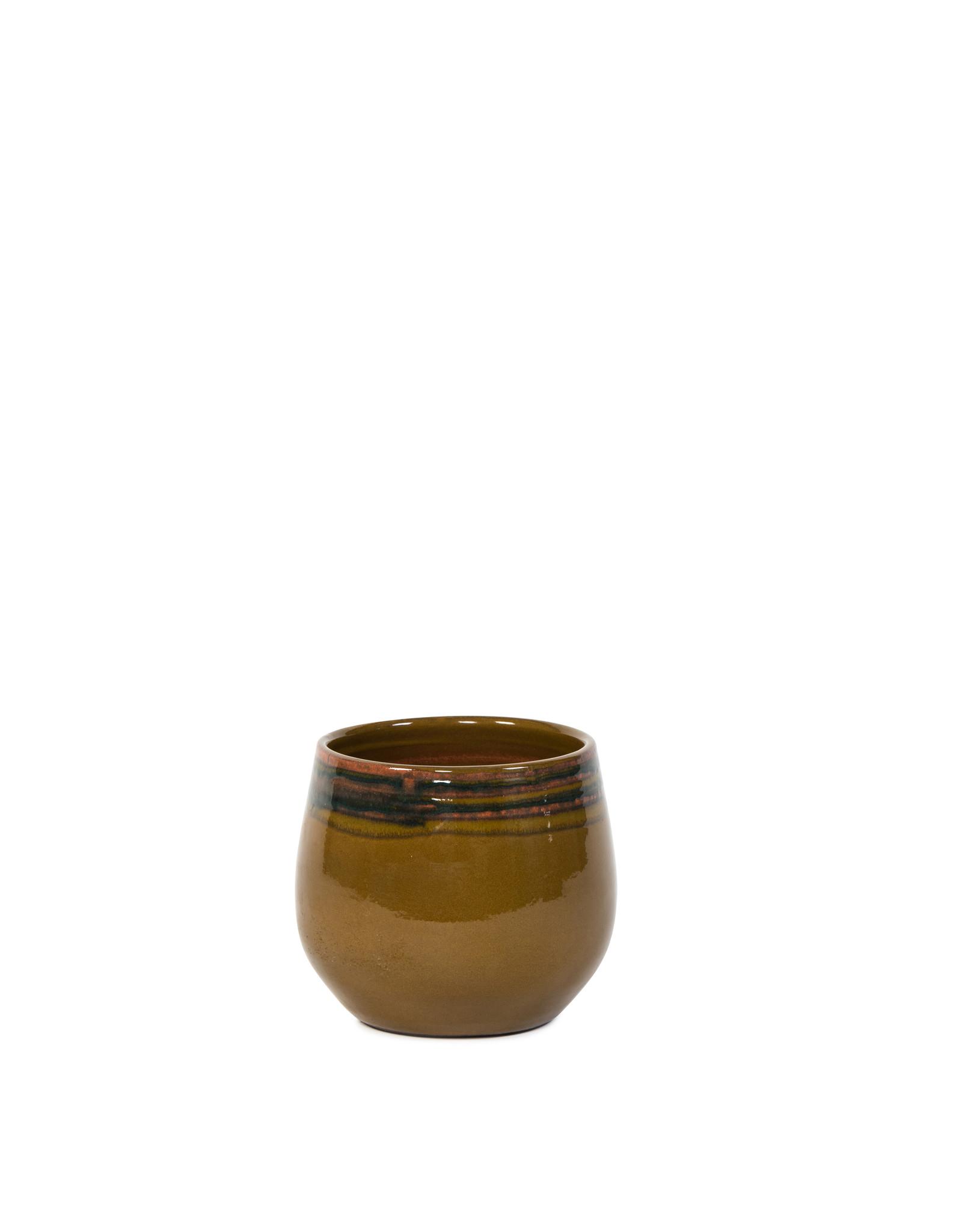 Dekocandle Bloempot Terracotta Oker Medium rond