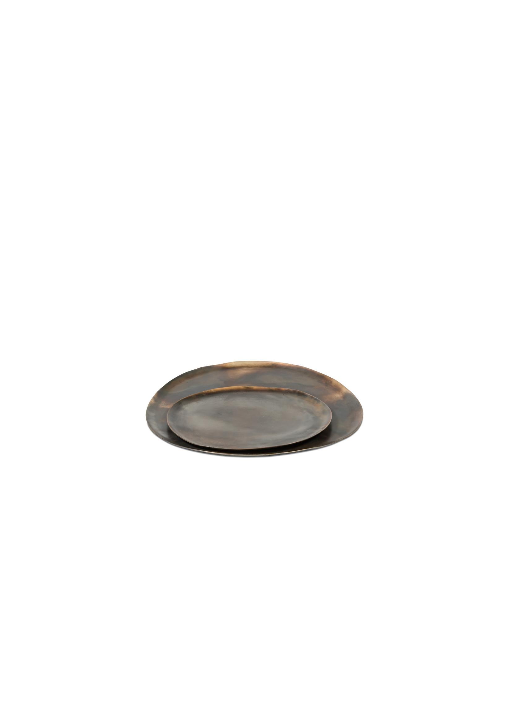 Dekocandle Plateau metaal Burned Silver Small