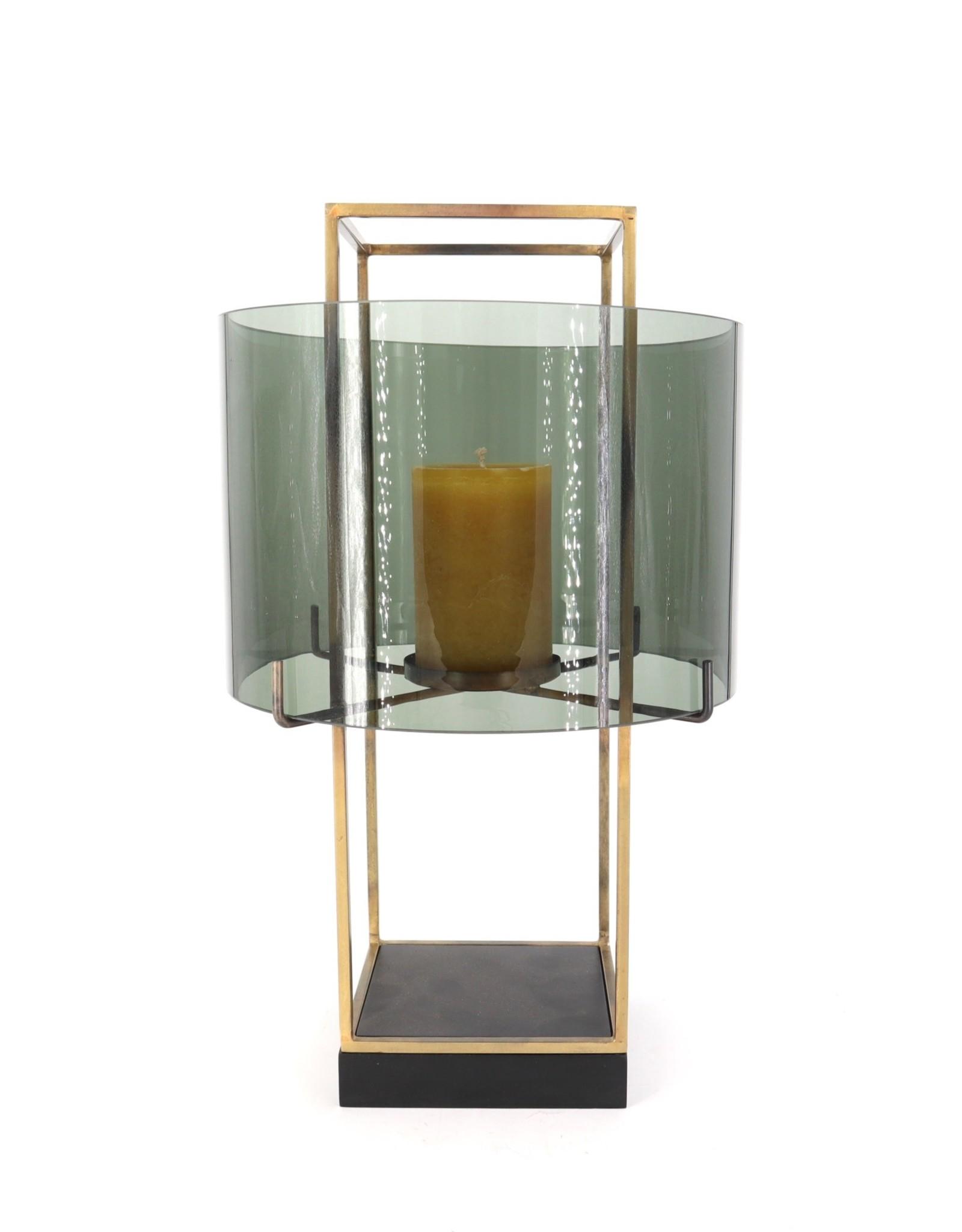 Dekocandle Windlicht metaal en glas