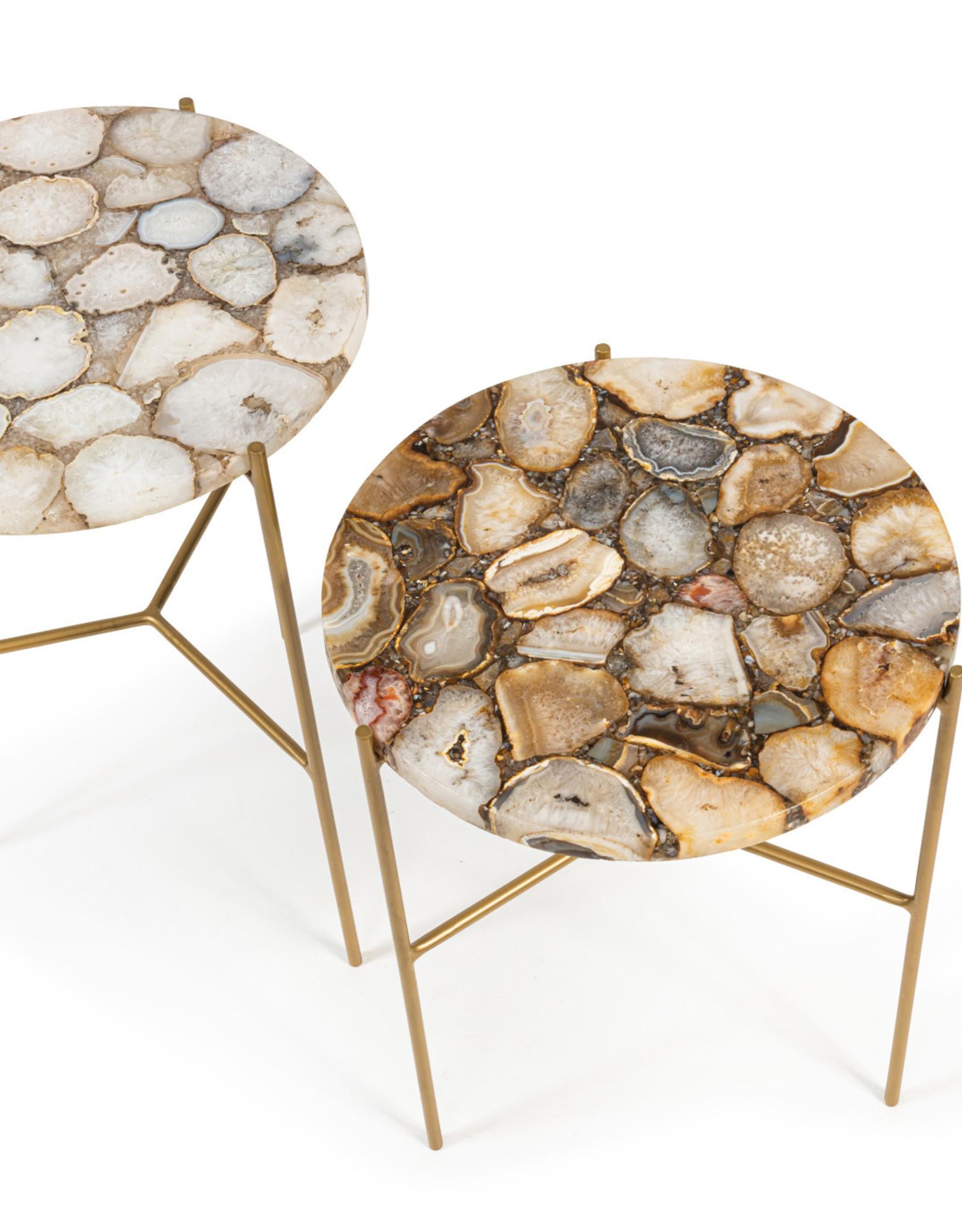 Dekocandle Side table in agaat set v 2