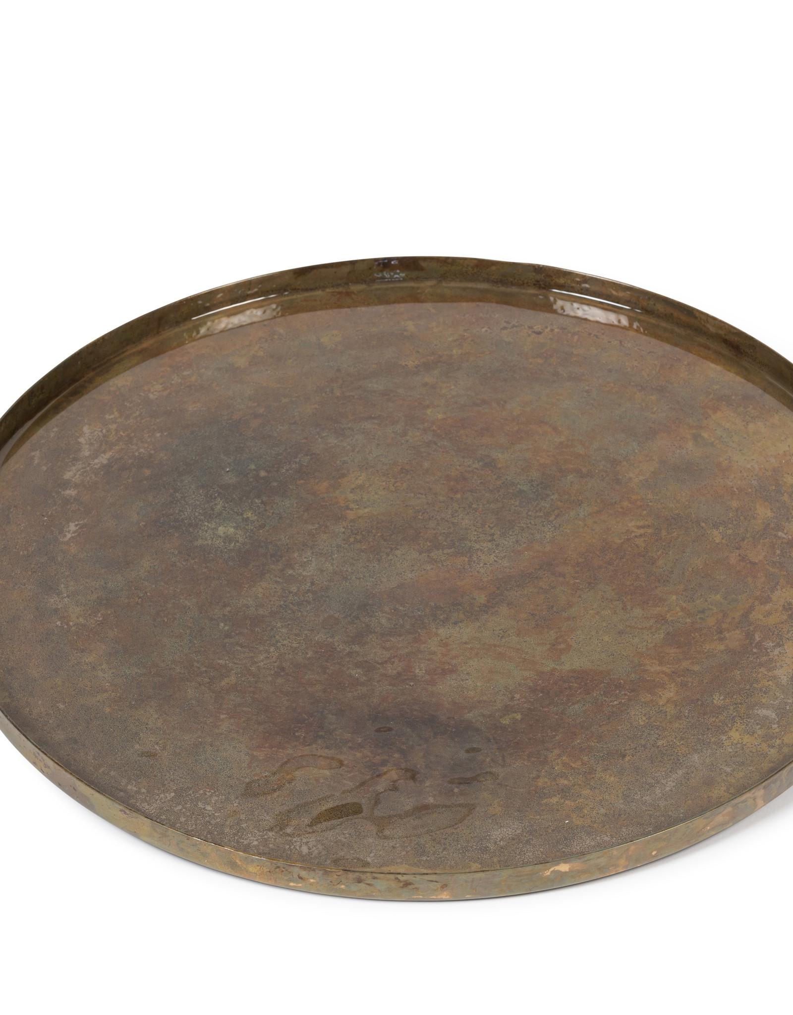 Dekocandle Plateau metaal groen/goud