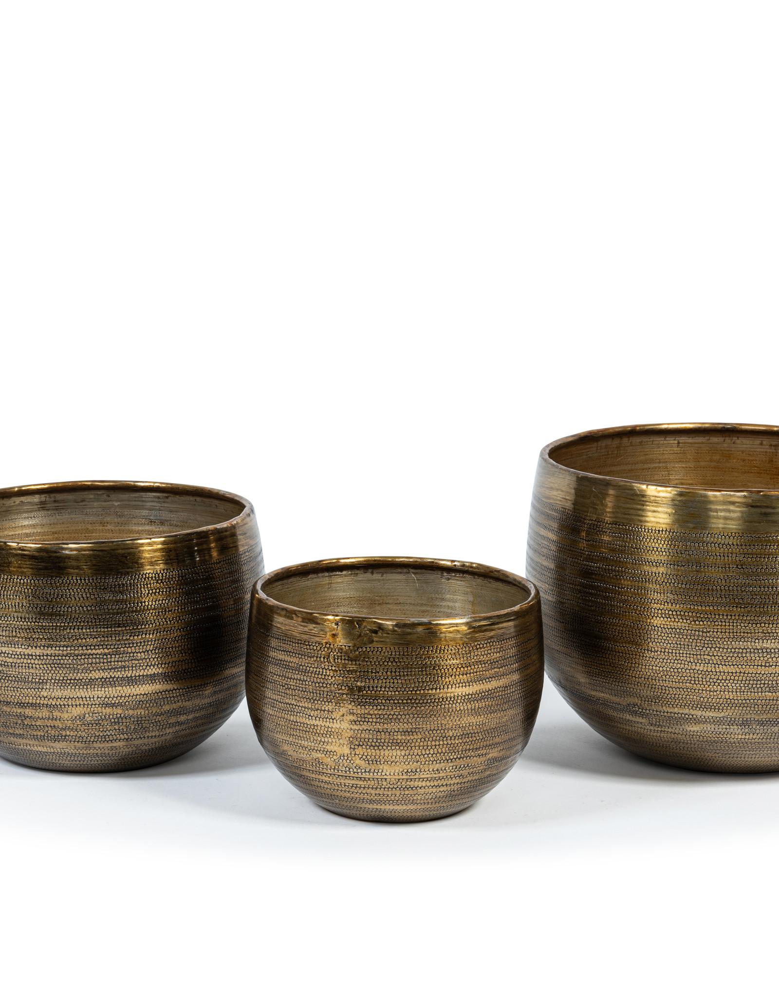Dekocandle Set van 3 koperkleurige plantenpotten