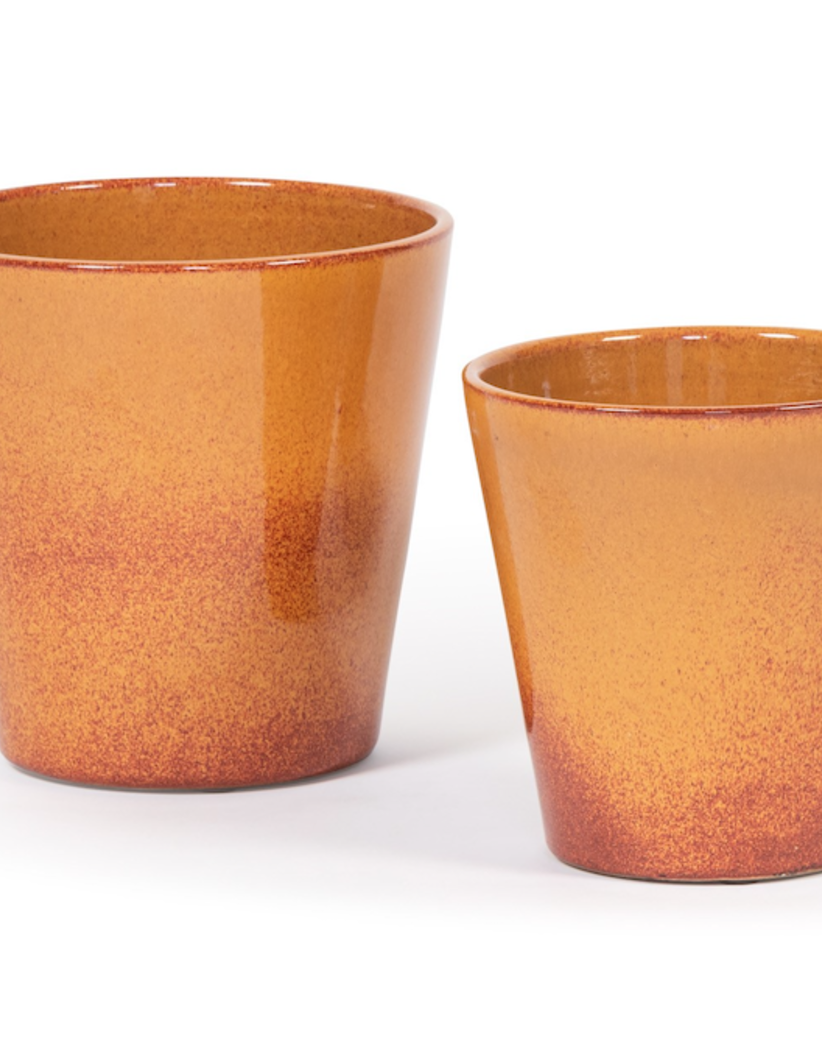 Dekocandle Bloempot oranje Conisch medium
