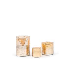 Dekocandle Theelichtje goud amber Large