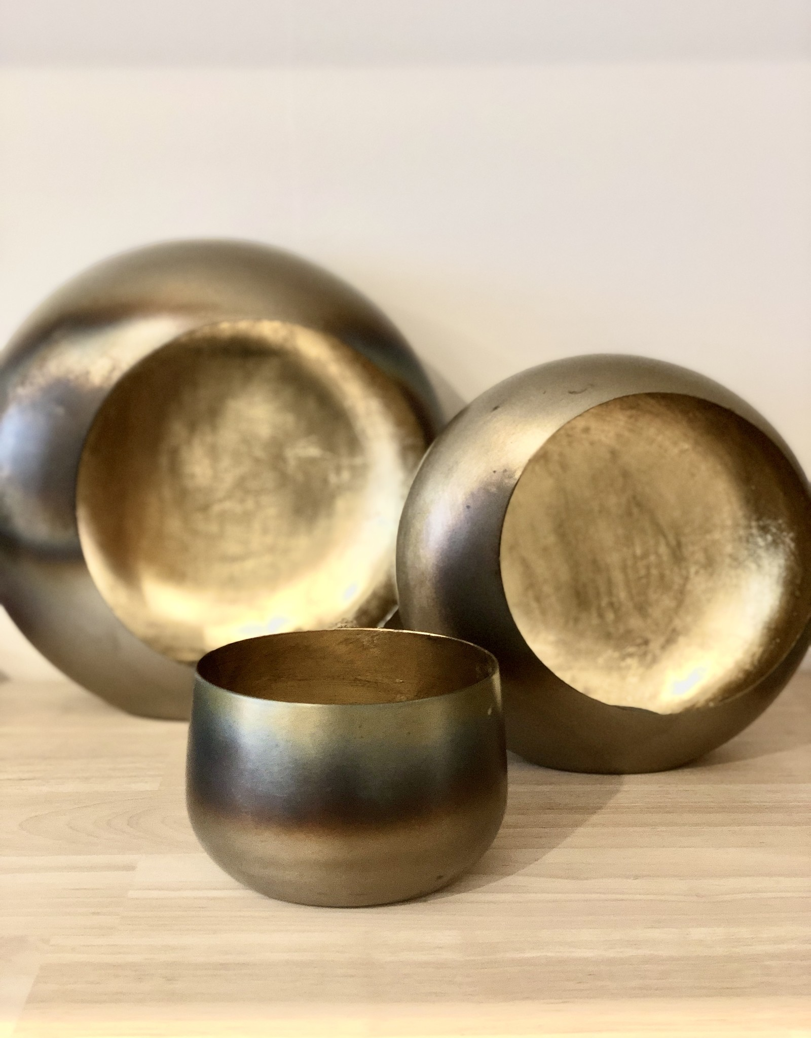 Dekocandle Theelichthouder burned Brass/ Gold Large