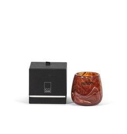 Dekocandle Geurkaars Gevlamd glas Oranje Ebène