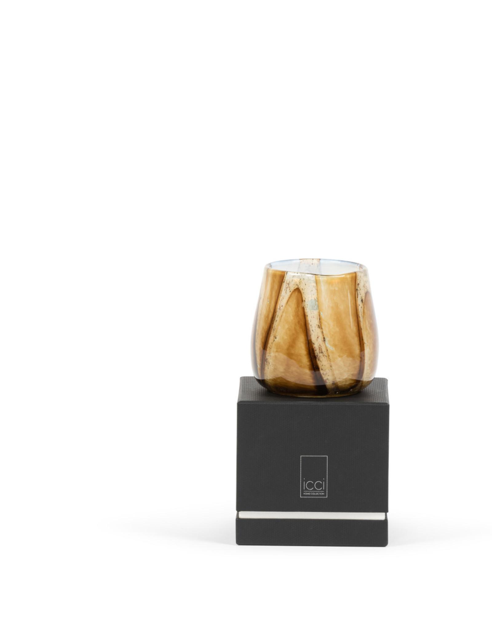 Dekocandle Geurkaars gevlamd glas Orient Medium