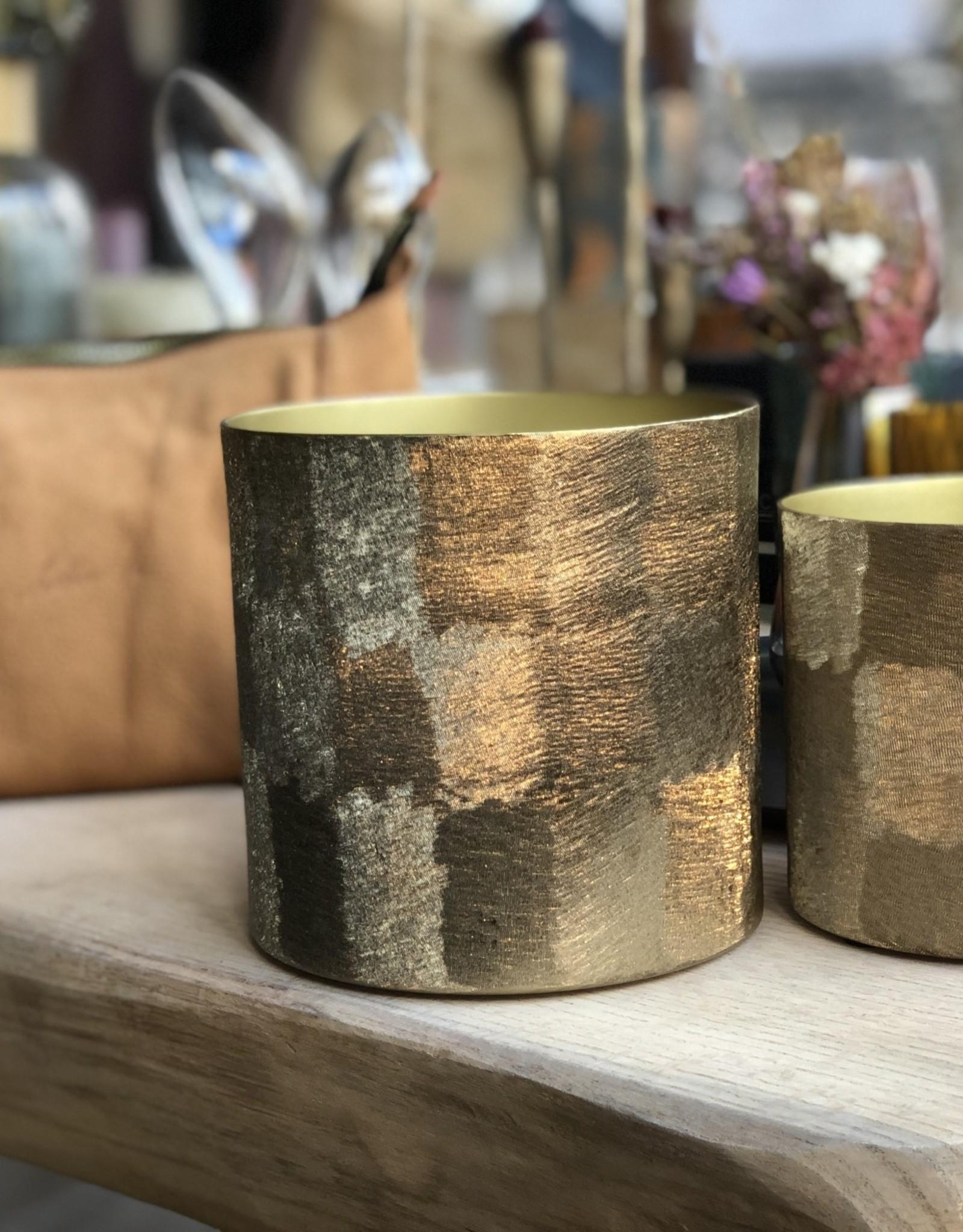 Dekocandle Geurkaars Gold Metal Savanne Large