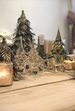 Dekocandle Kerstboom mondgeblazen groen small
