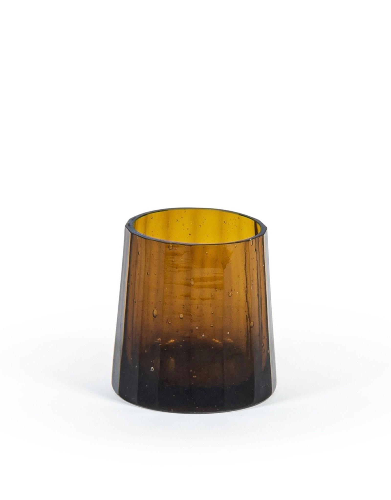 Dekocandle Theelicht long stretched amber