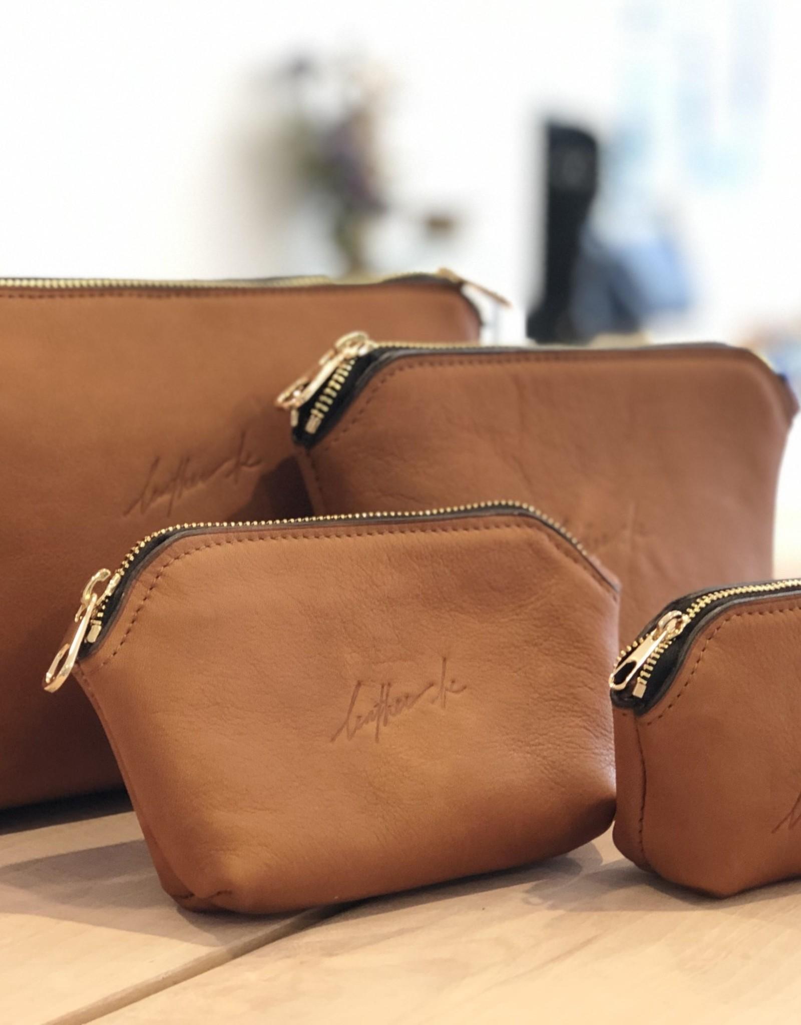 Leather Be Pocket Pouch Cognac