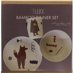 NUUKK Bamboo Kids Diner Set Fox and Friends