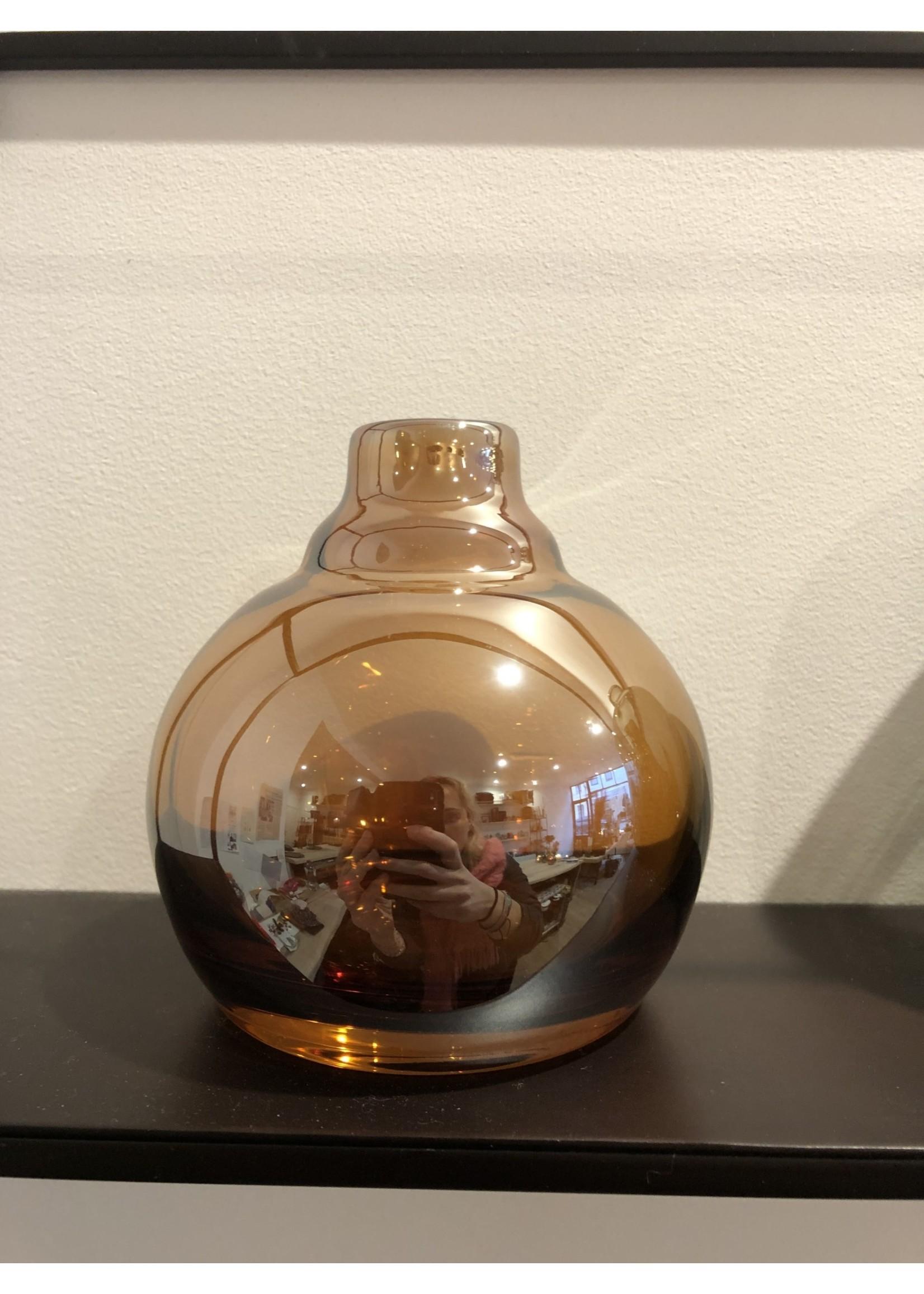 Dekocandle Vaasje Amber luster small