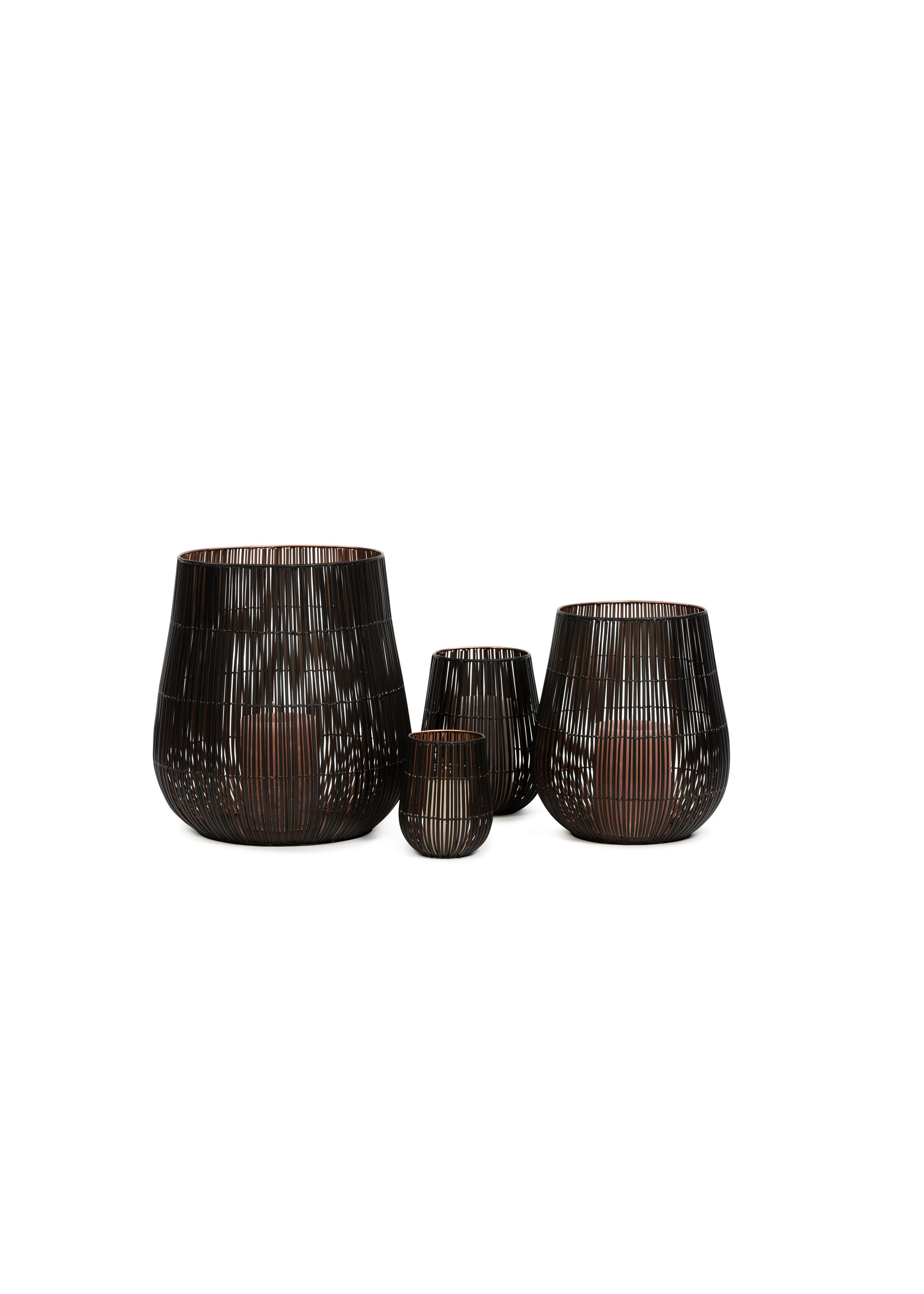 Dekocandle Windlicht Metal Black & Copper Large