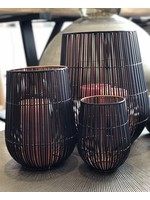 Dekocandle Windlicht Metal Black & Copper Medium