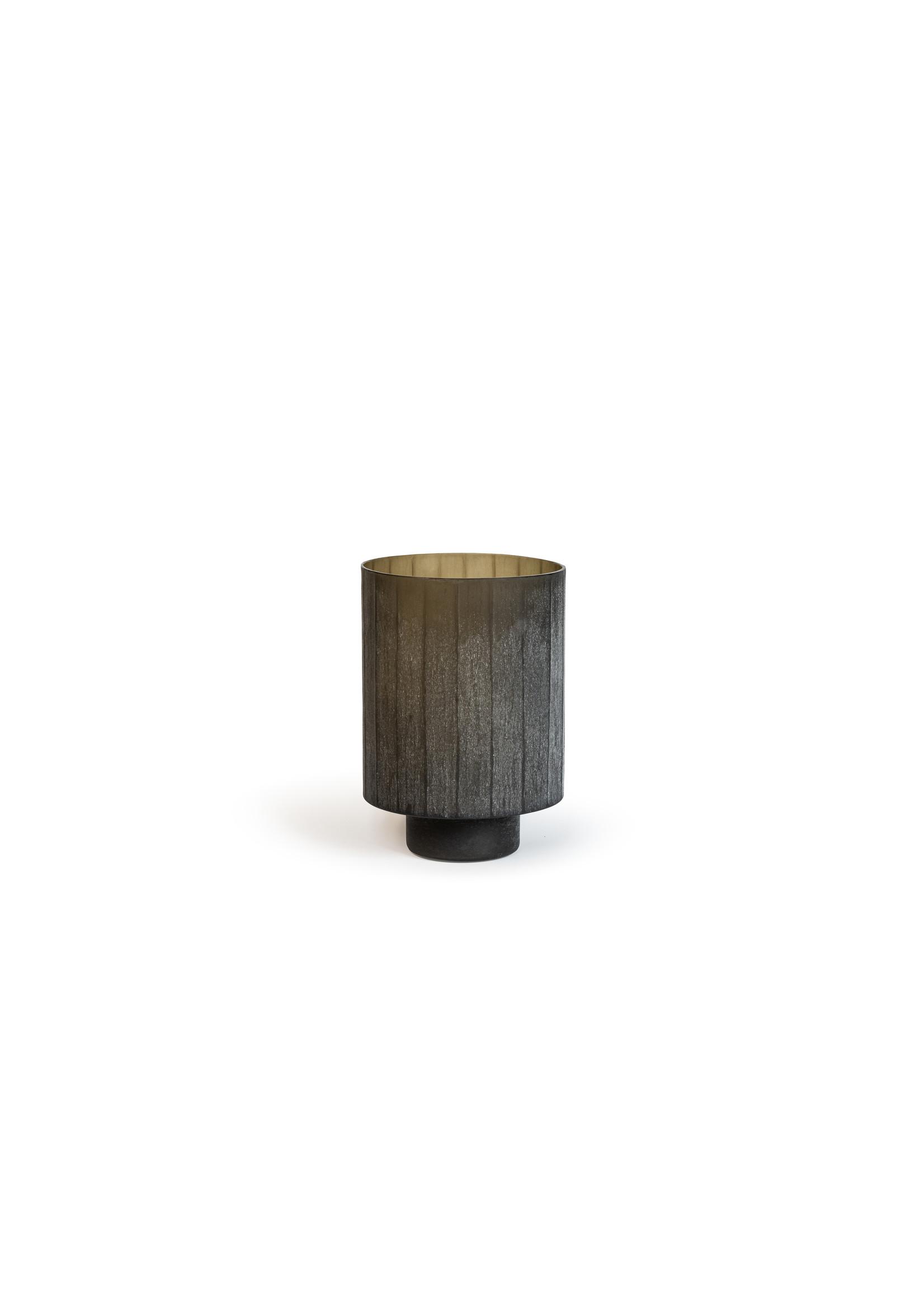 Dekocandle Windlicht Smoke Glass Dark Grey