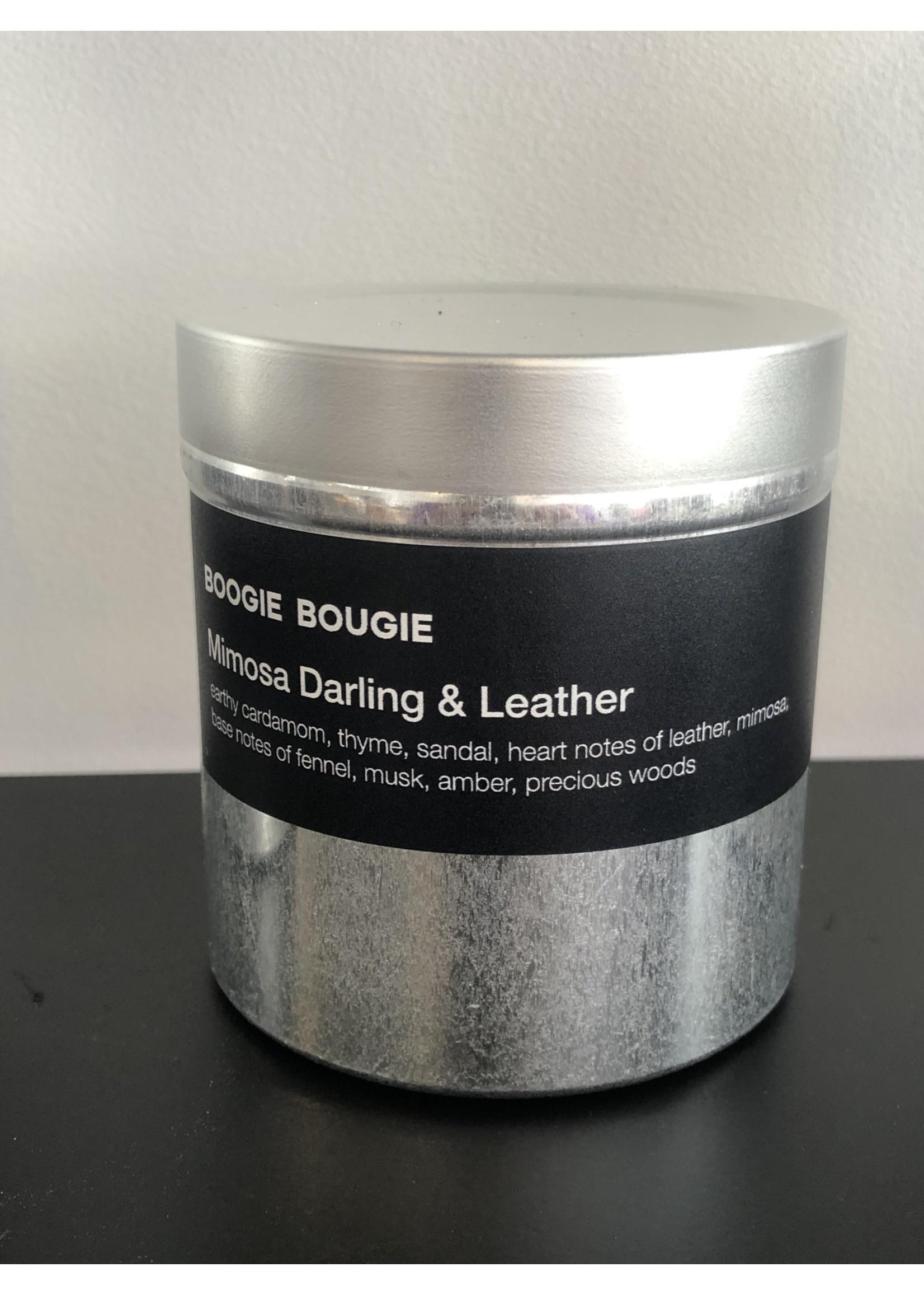 BOOGIE BOUGIE Boogie Bougie Geurkaars Mimosa Darling & Leather