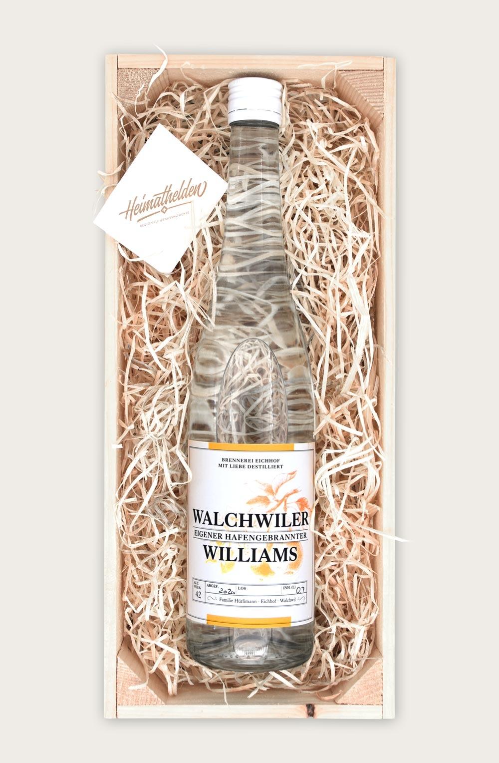 Walchwiler Williams 70cl in schöner Geschenkharasse-2