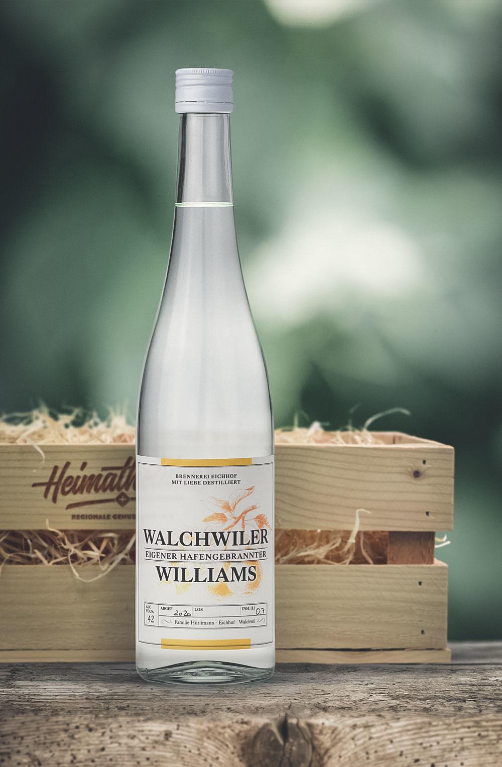 Walchwiler Williams 70cl in schöner Geschenkharasse-1