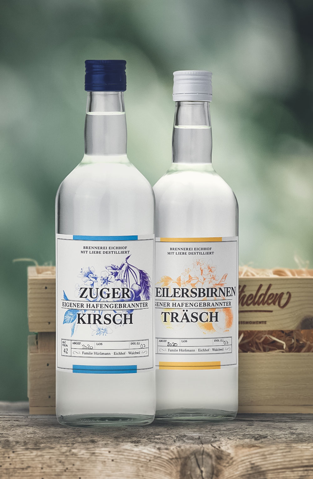 Zuger Kirsch & Theilersbirnen Träsch 70cl in Harasse-2