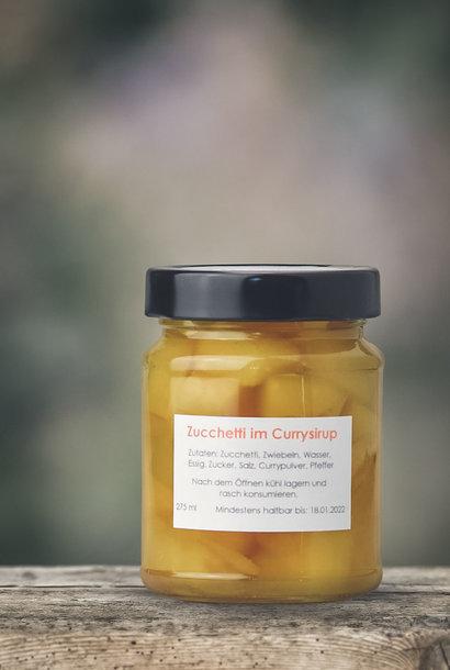 Zucchetti im Currysirup