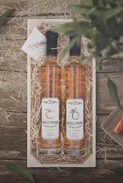 Geschenkbox «Vieille Prune & Pomme 35cl»