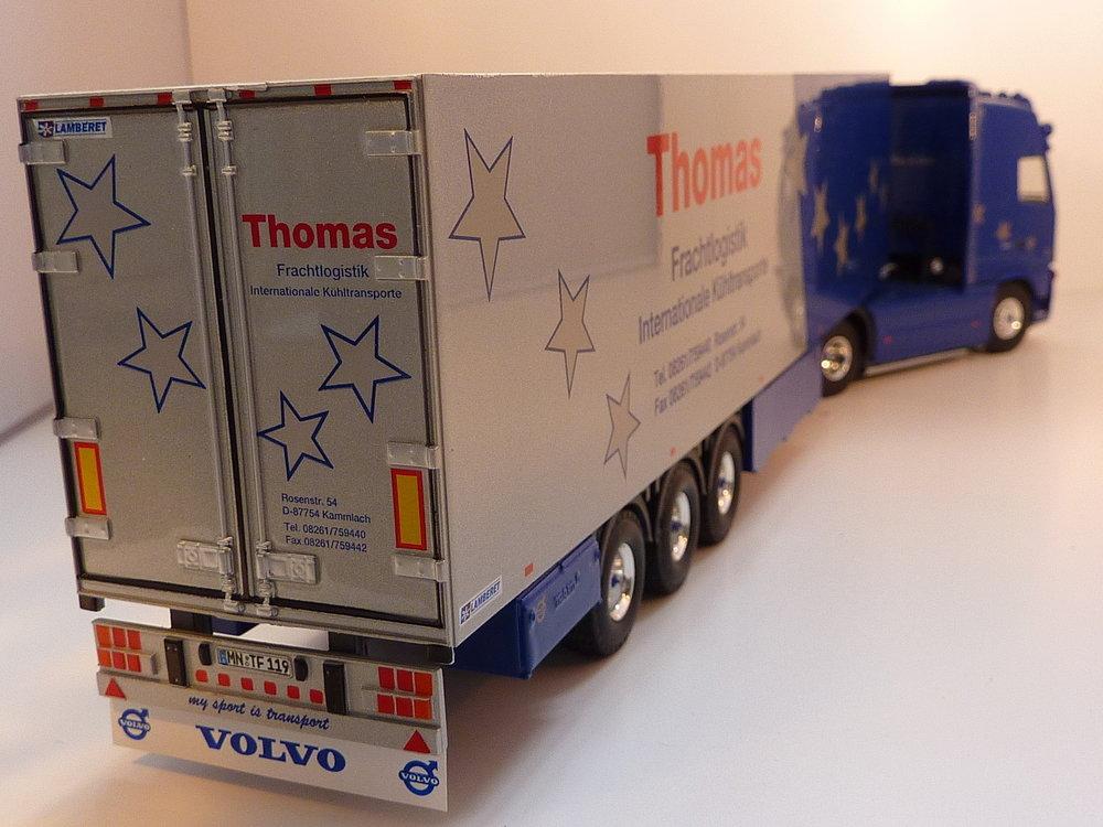 Tekno Tekno Volvo FH 460 Globetrotter met koeloplegger Thomas Frachtlogistic
