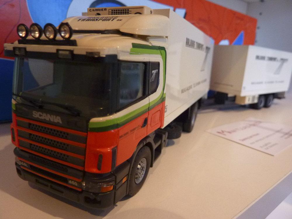 Brothers Frigo Tekno Scania 144L/460 motorwagen met wipkar Aalburg transport