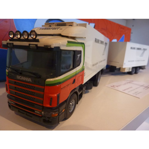 Brothers Frigo Tekno Scania 144L/460 truck with a seesaw Aalburg transport